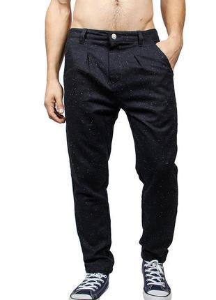 Брендовые мужские темно-синие твидовые брюки anerkjendt бангладеш коттон шерсть этикетка