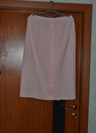 Юбка нежно розовый