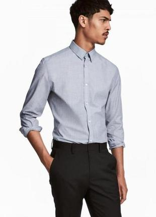 Рубашка easy iron slim fit h&m