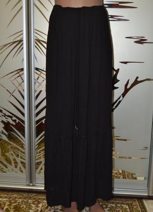 Длинная юбка в пол 100%вискоза