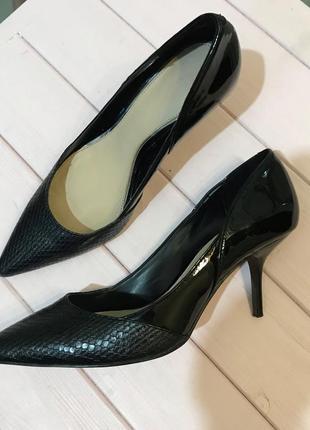 Комбинированные туфли/лодочки, zara, размер 37/24 см.