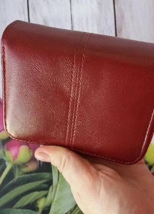 Кошелек екокожа эко гаманець жіночий женский маленький бордо3 фото