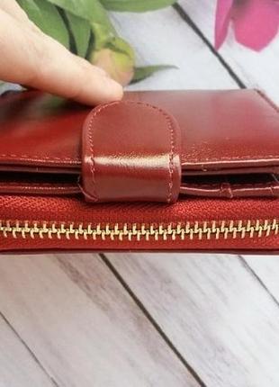 Кошелек екокожа эко гаманець жіночий женский маленький бордо4 фото