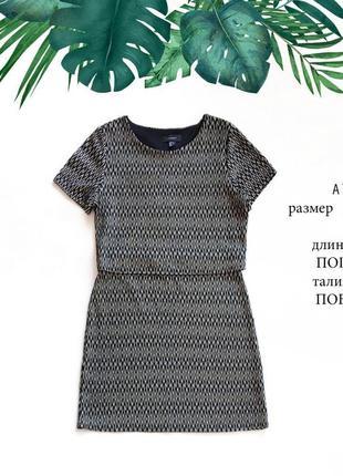 Качественное плотное черное и золотистое платье размер l