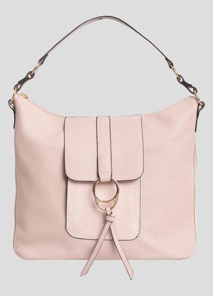 Пудровая сумка шопер