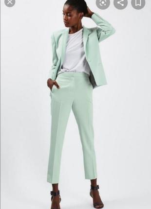 Мятные брюки topshop