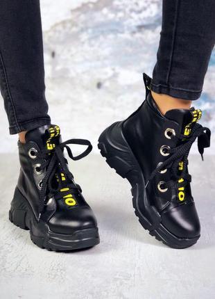 Натуральные кожаные ботинки 5838ллт