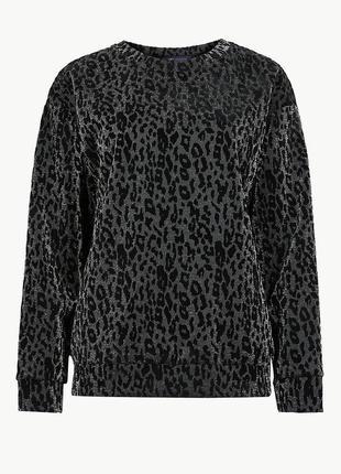 Мега стильный свитер с люрексом m&s uk18 новый без бирок