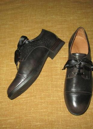 Туфли vabeene кожаные оксфорды италия