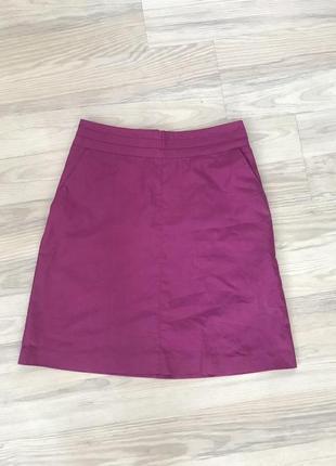Фиолетовая юбка миди h&m