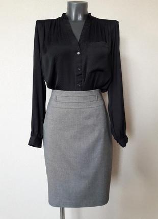 Стильная,деловая,офисная женственная прямая юбка-карандаш taifun
