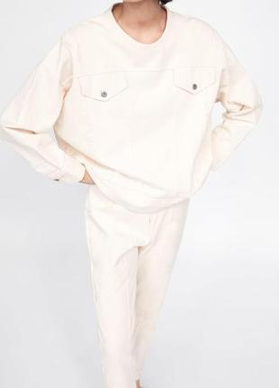 Новый джинсовый костюм zara толстовка свитшот джинсы