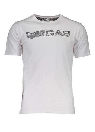 Оригинальная футболка с принтом от бренда gas разм. м, xl