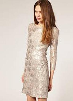 Reiss новое брендовое#кружевное#ажурное платье#сукня коктейльное#вечернее#нарядное.