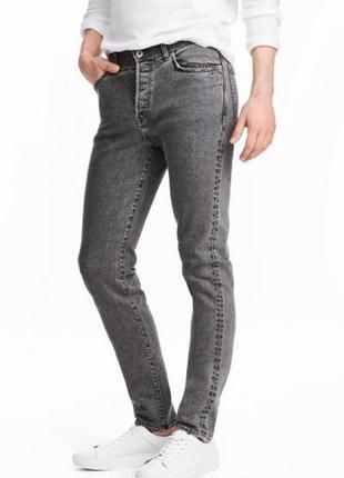 Оригинальные джинсы-slim от бренда h&m разм. 33