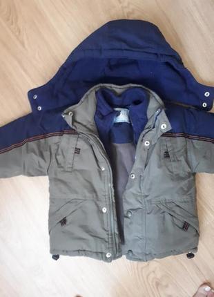 Теплая куртка 5-6 лет