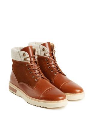 Мужские демисезонные кожаные ботинки gant