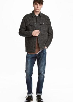 Оригинальные джинсы-straight regular jeans от бренда h&m разм. 32