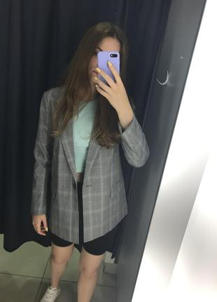 Жакет пиджак в клетку ostin1 фото