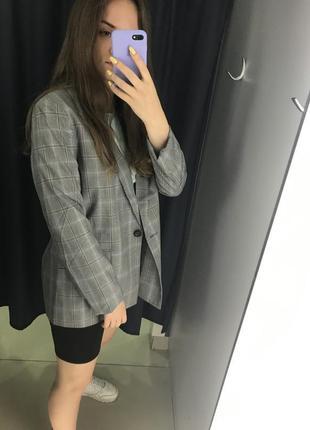 Жакет пиджак в клетку ostin2 фото