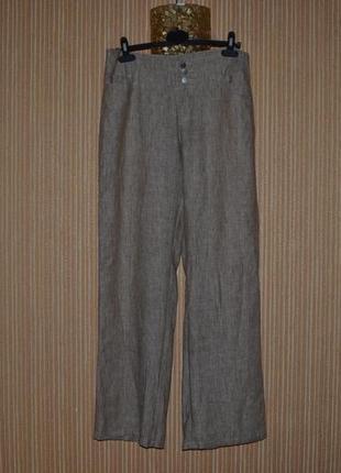 Xl/42 льняные широкие штаны mac