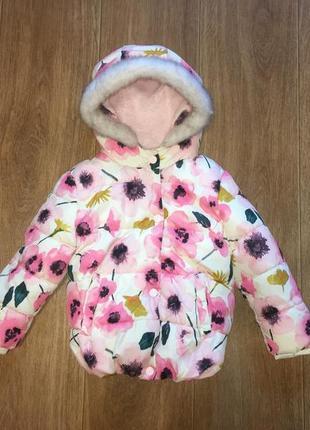Деми куртка в цветочный принт от george, указано 3-4 г