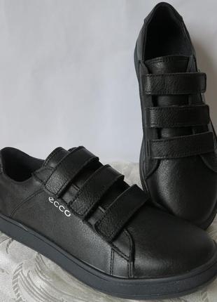 Натуральная кожа школьные туфли на липучках полуспортивные туфли кеды черные