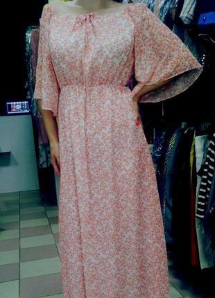 Очень легкое, нежное, романтичное шифоновое платье