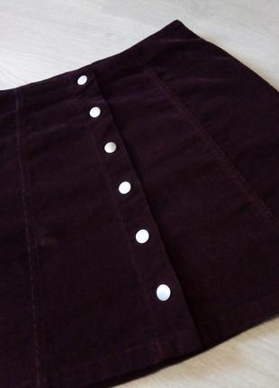Брендовая юбка микровильвет