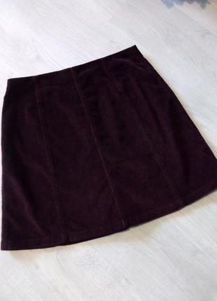Брендовая юбка трапецией микровильвет5 фото