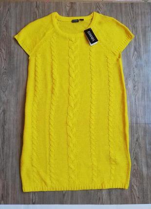 Яркое вязаное платье туника esmara