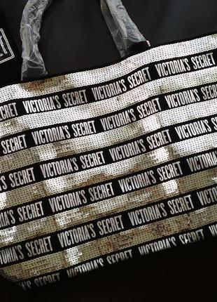 Блестящий комплект cумка + клатч victoria's secret оригинал