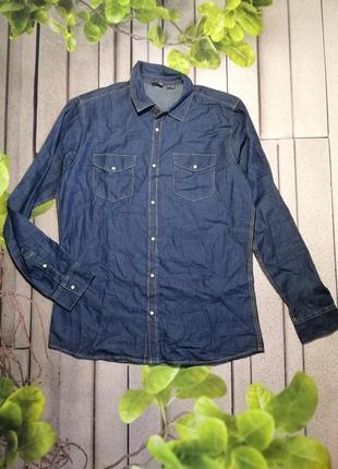 Мужская джинсовая рубашка из тонкого денима