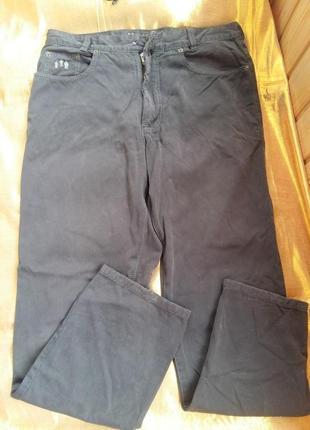 Котоновые серые штаны джинсы harlem walker подарок