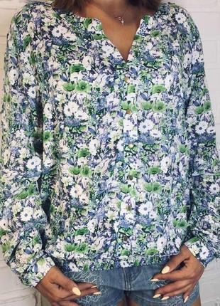 Новая с биркой легкая натуральная блуза - вишиванка