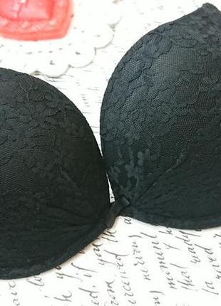 Бюстгальтер бюстик кружево сетка черный primark 75d 70d