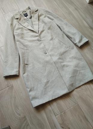 Пальто серое бойфренд new look