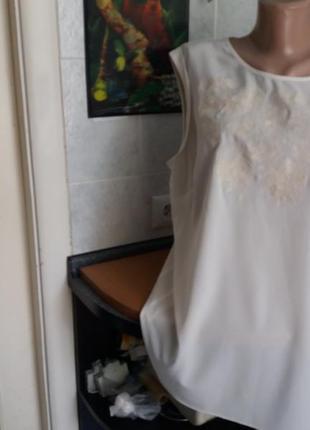 Невесомый блузон betty  jackson королевского 54 размера