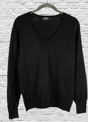 Черный свитер базовый, однотонный черный свитер женский, черный джемпер