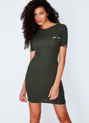 Трикотажное платье с волнистыми манжетами select
