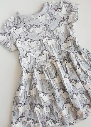 Туника платье с единорогами next