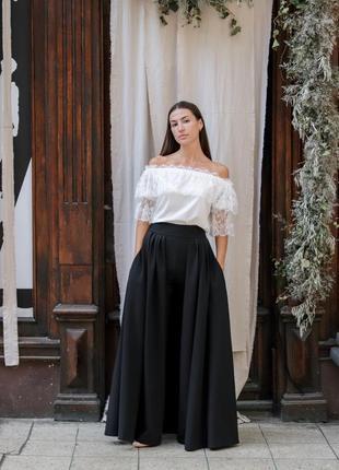 Тренд осени: юбка-брюки10 фото