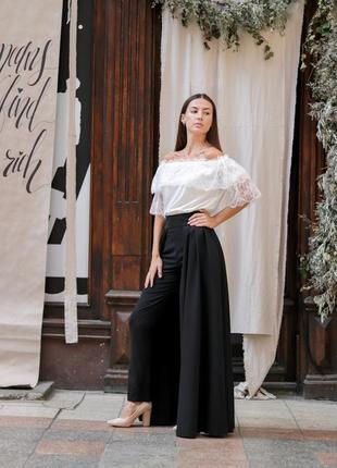 Тренд осени: юбка-брюки8 фото