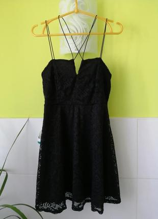 Кружевное платье на тонких бретелях new look