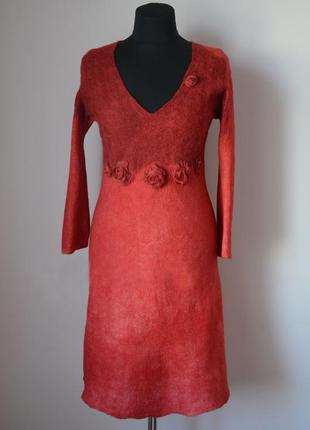 Эффектное валяное платье