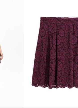 Новая гипюровая юбка h&m