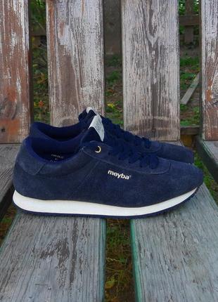Сині замшеві кросівки