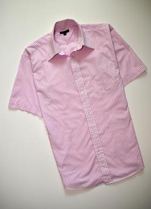 Мужская рубашка в полоску сedar wood короткий рукав