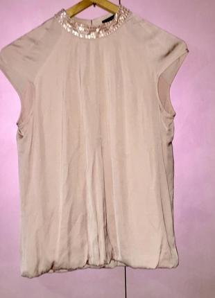 Нарядная блузка пудрового розового цвета
