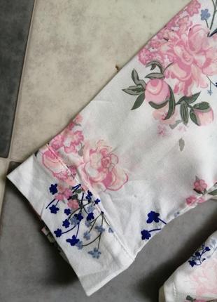 Рубашка с цветочный принт h&m4 фото